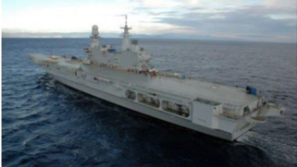 La nave cavour a ortona il maltempo blocca gli invitati - Cavour portaerei ...